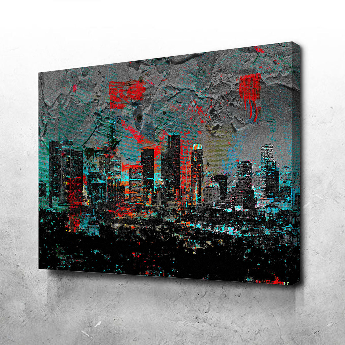 Abstract Los Angeles Skyline Canvas Set