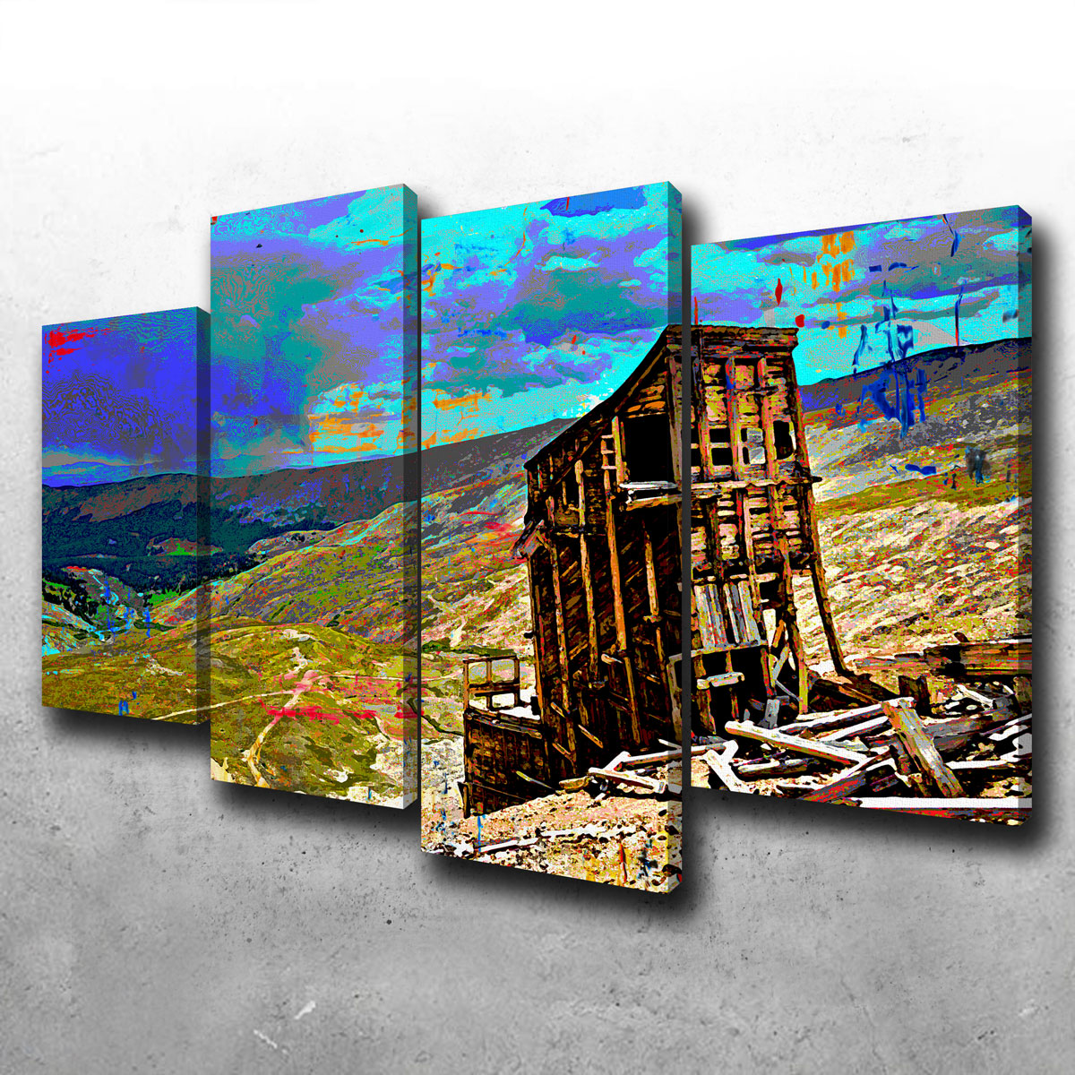 Abstract Sherman Canvas Set