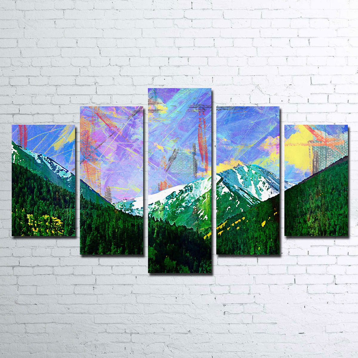 Abstract Torreys Canvas Set