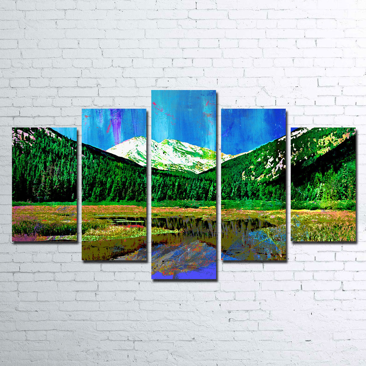Abstract Yale Canvas Set