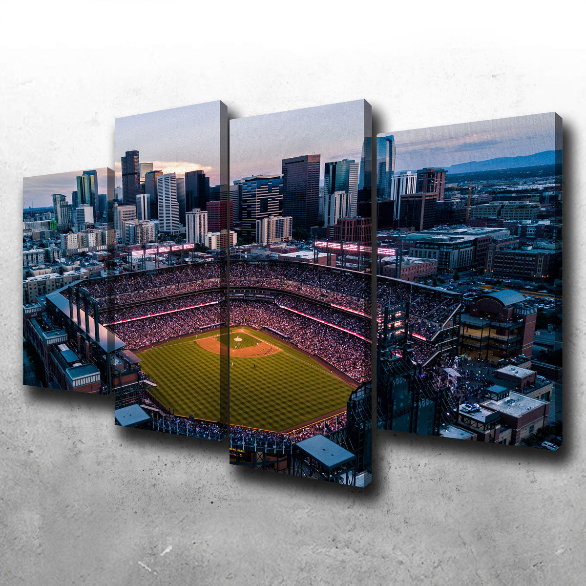 Aerial of Coors Field Canvas Set