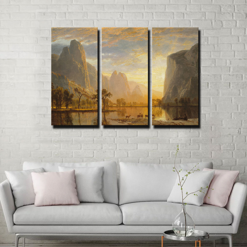 Valley of the Yosemite Canvas Set