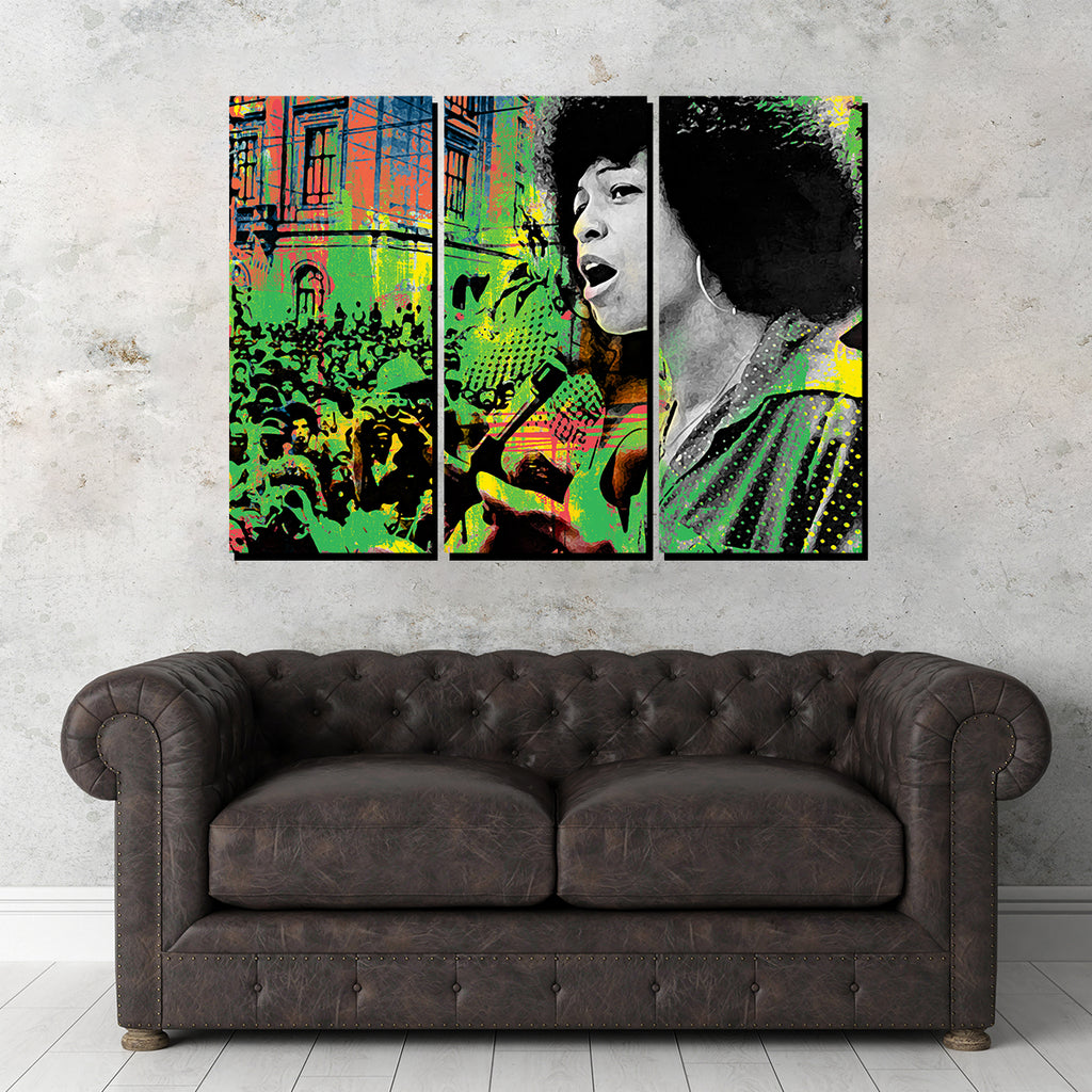 Angela Davis Canvas Set