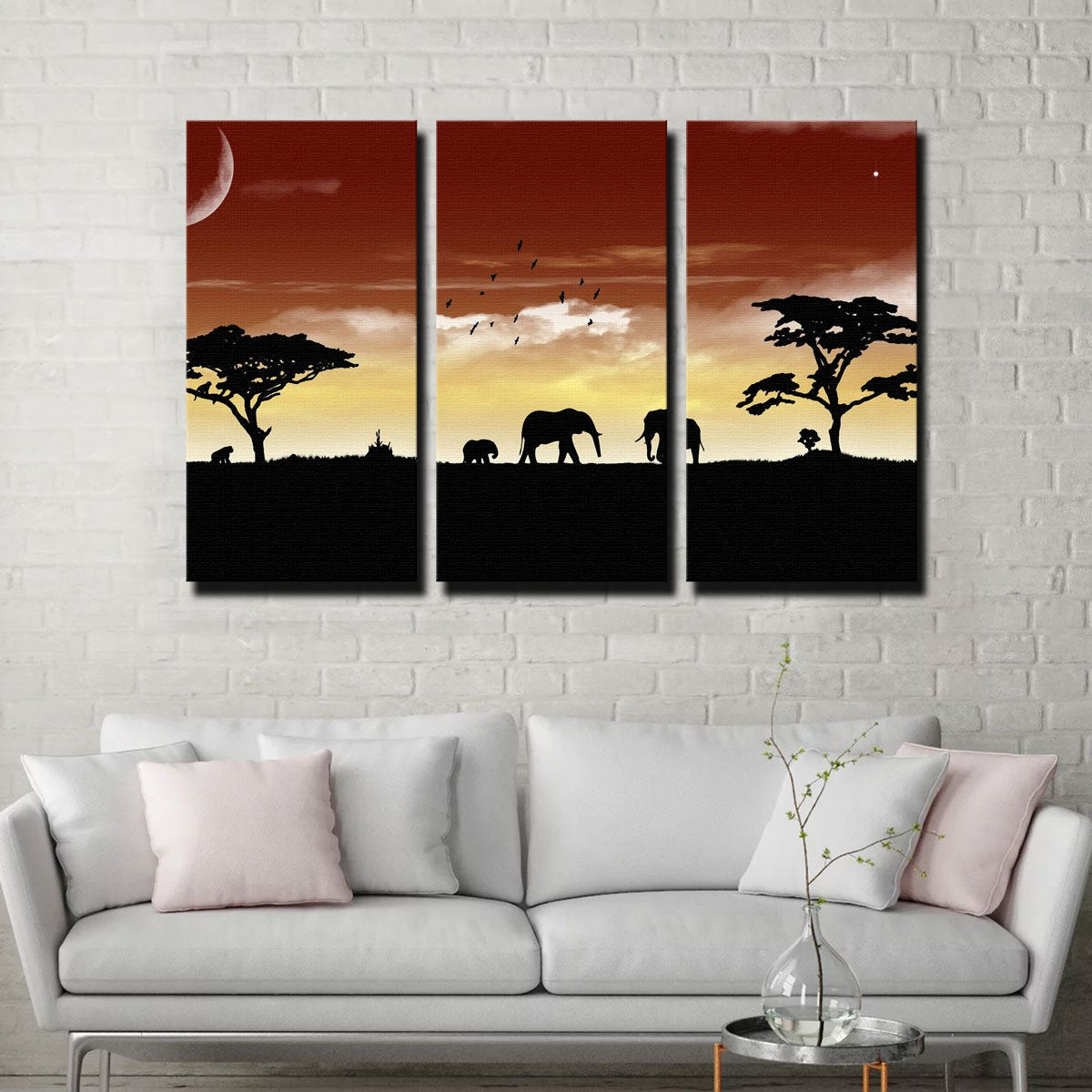 African Sunset Canvas Set