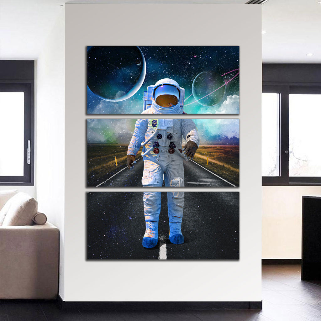 Astronaut Road Canvas Set