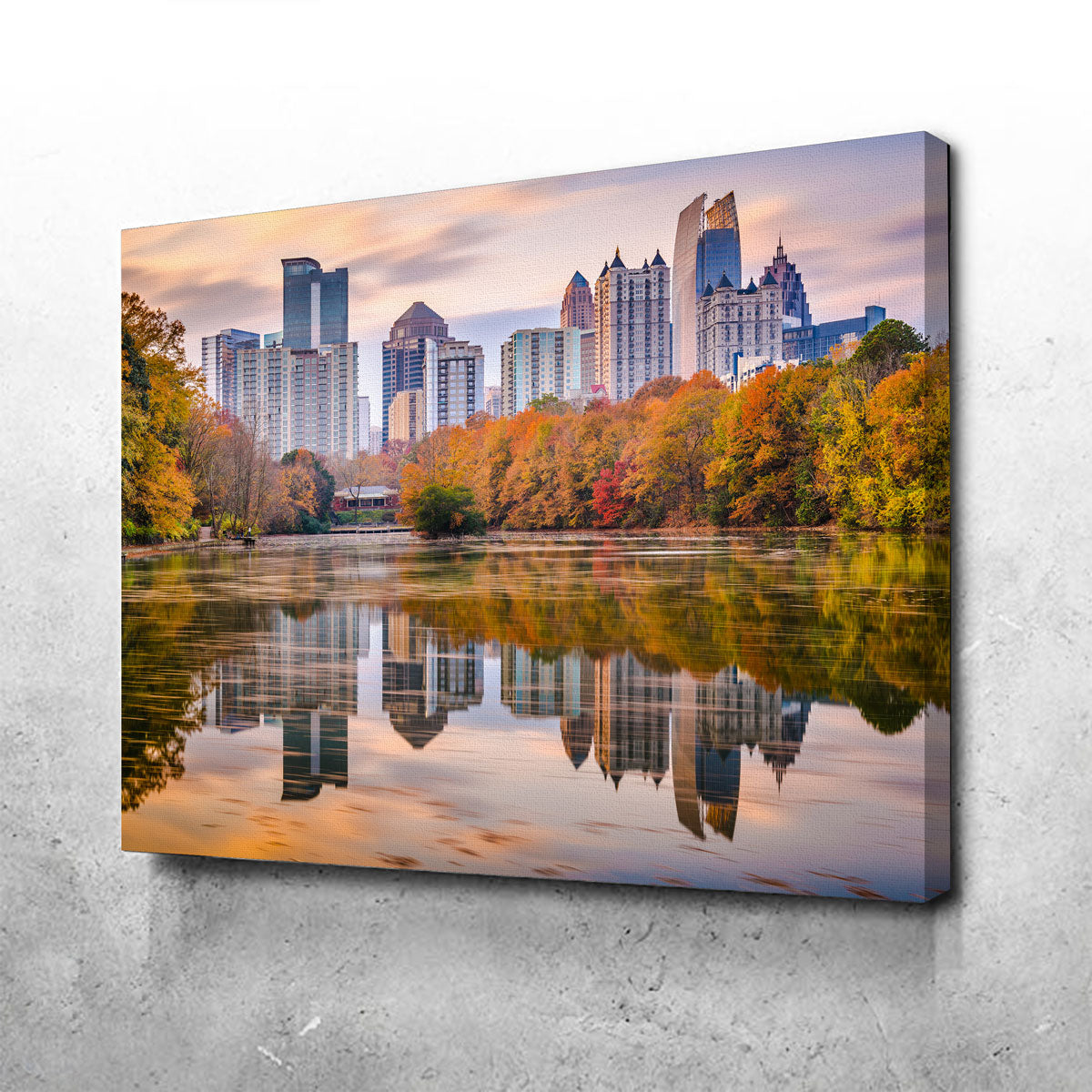 Atlanta From The Park Canvas Set