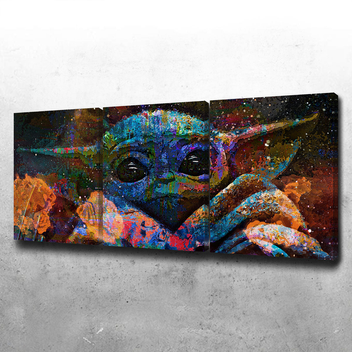 Baby Yoda Canvas Set