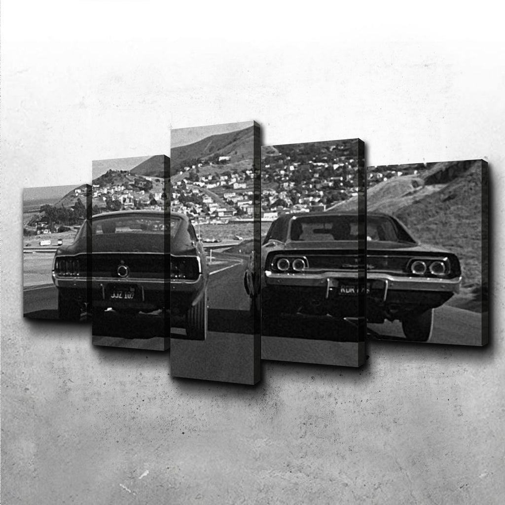 Car Chase Bullitt Canvas Set