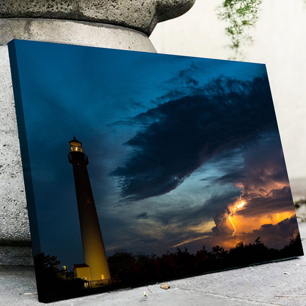 Cape May Lighthouse Canvas Set