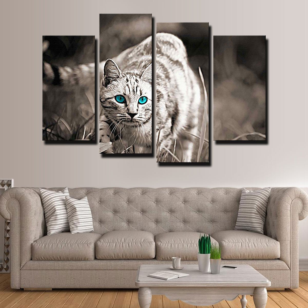 Cat On The Prowl Canvas Set