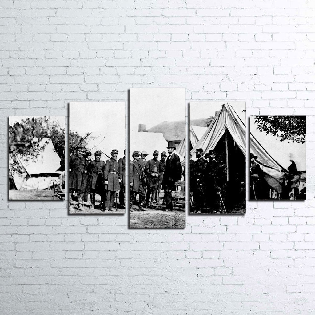 Lincoln Civil War 5pc Canvas Set