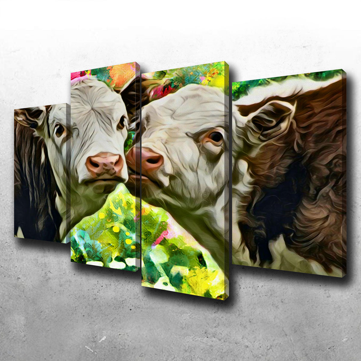 Cows Abstract Canvas Set