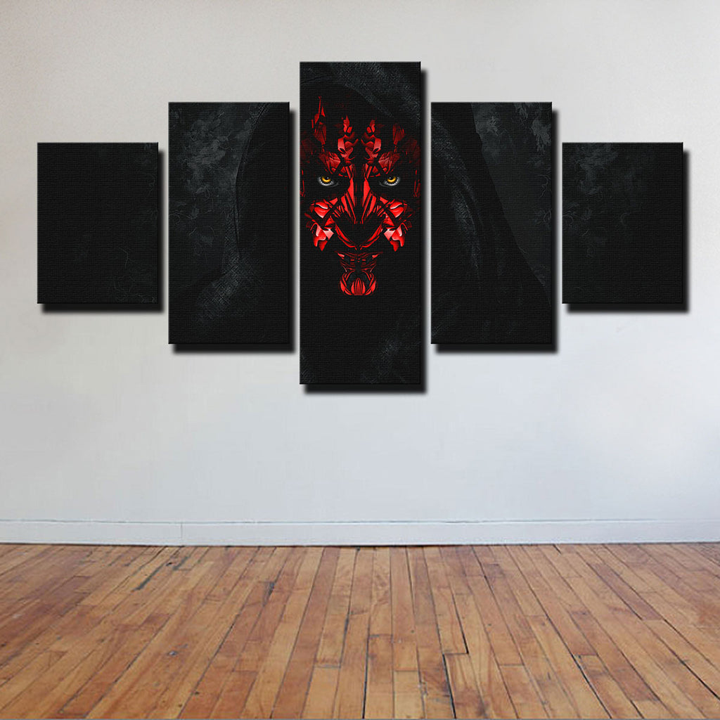 Darth Maul 5 Piece Canvas Set