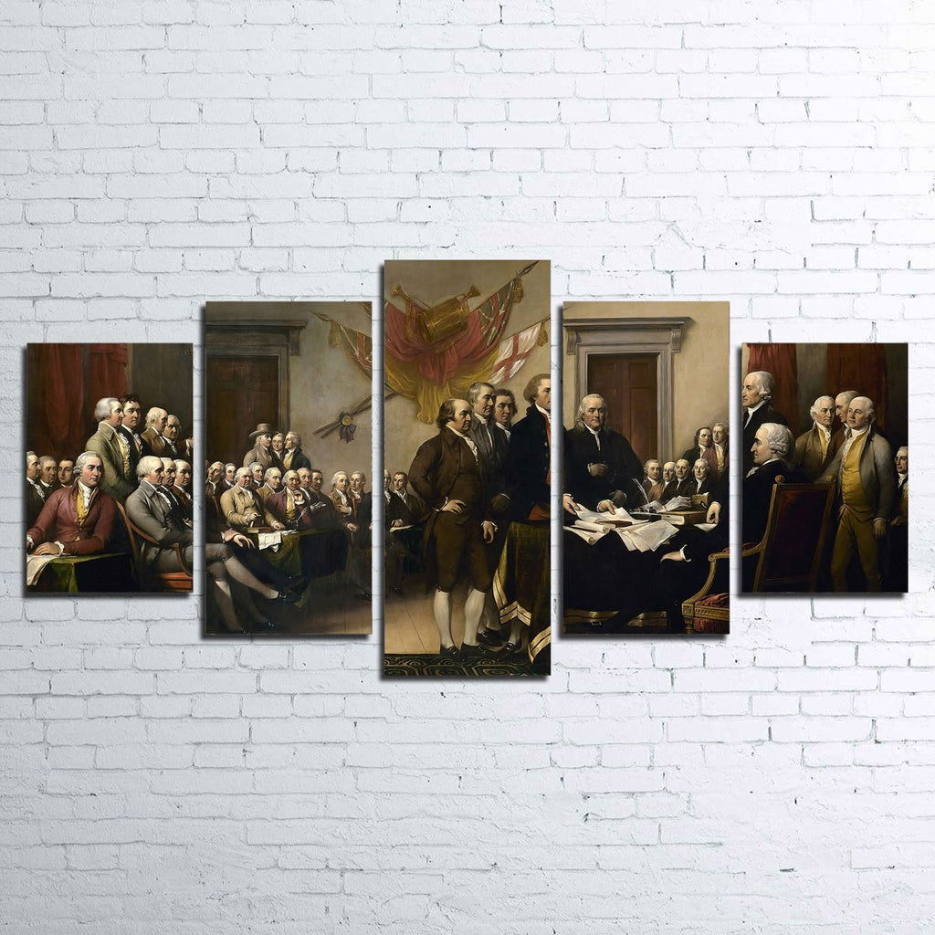 Declaration of Independence 5pc Canvas Set