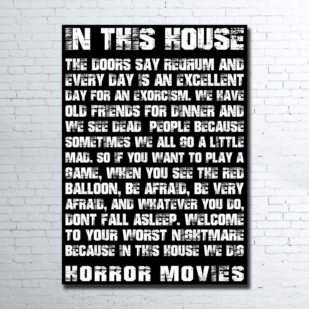 Horror House Canvas