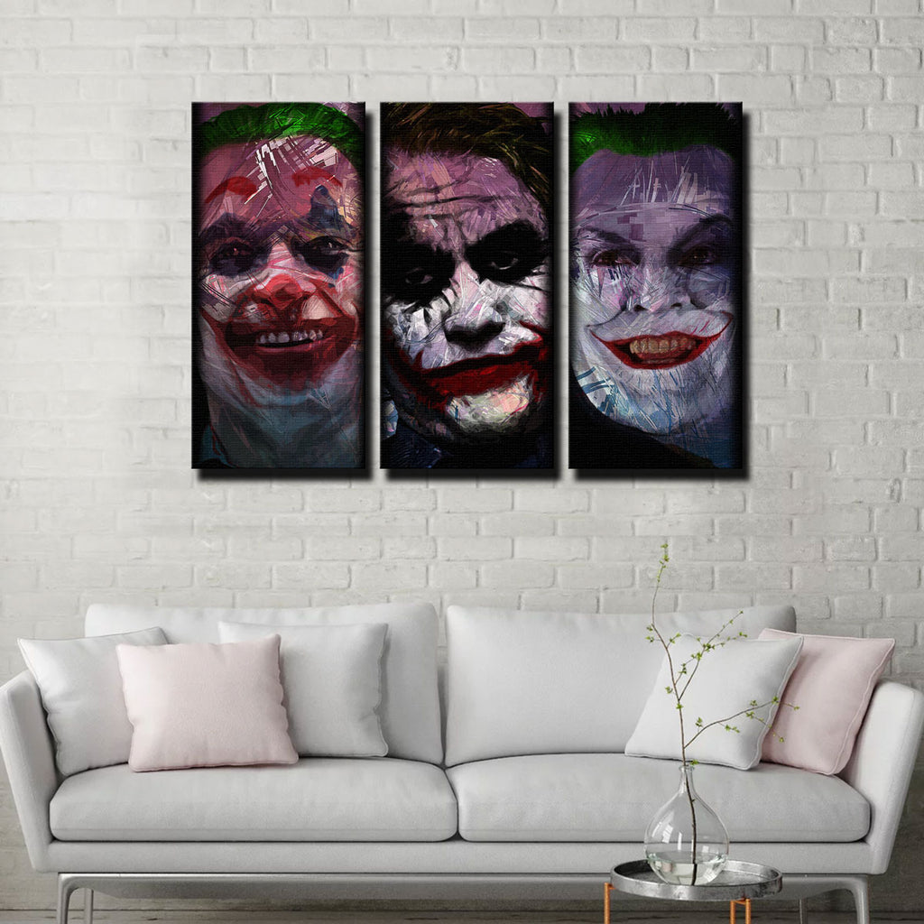 Faces of the Joker Canvas Set
