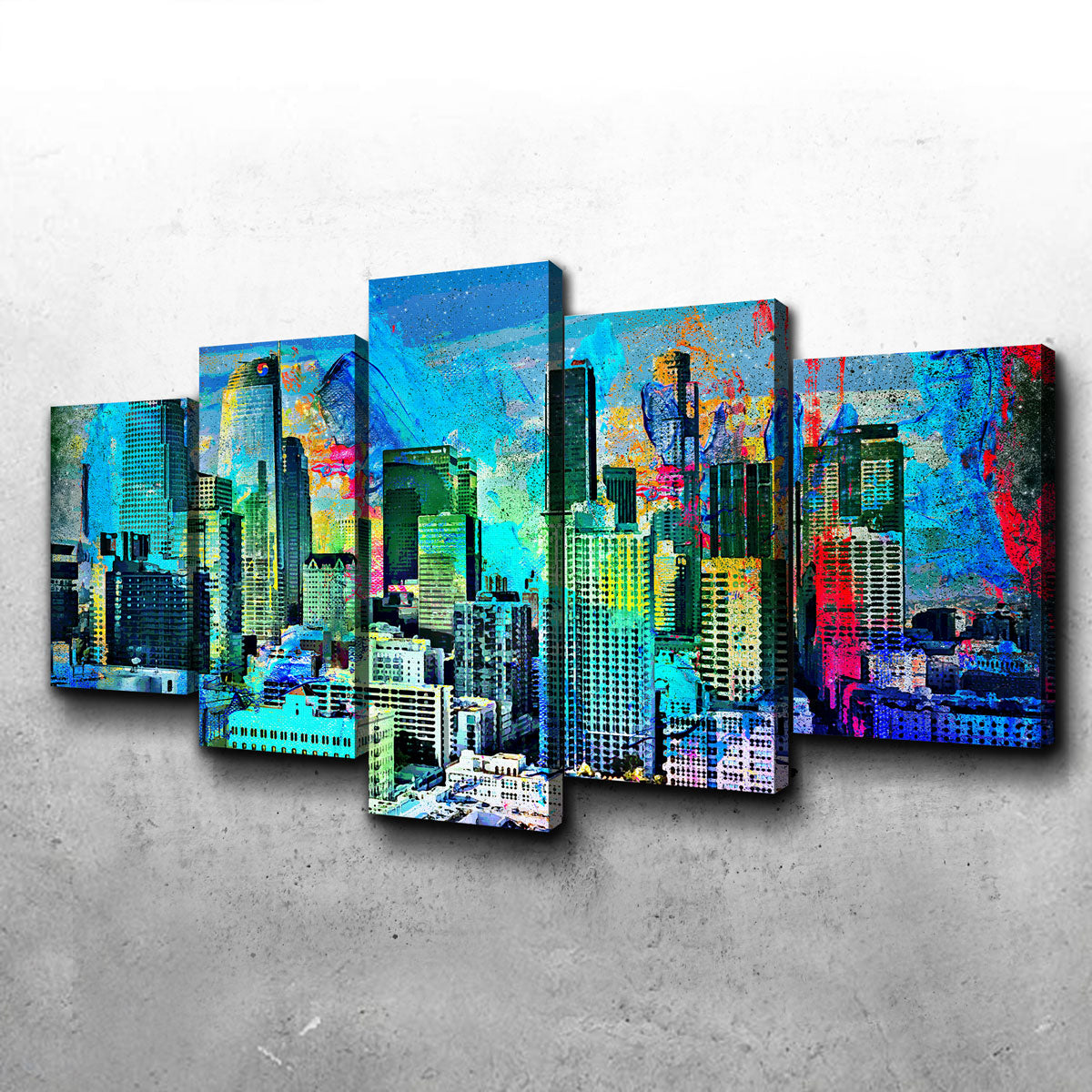 Downtown LA Skyline Canvas Set