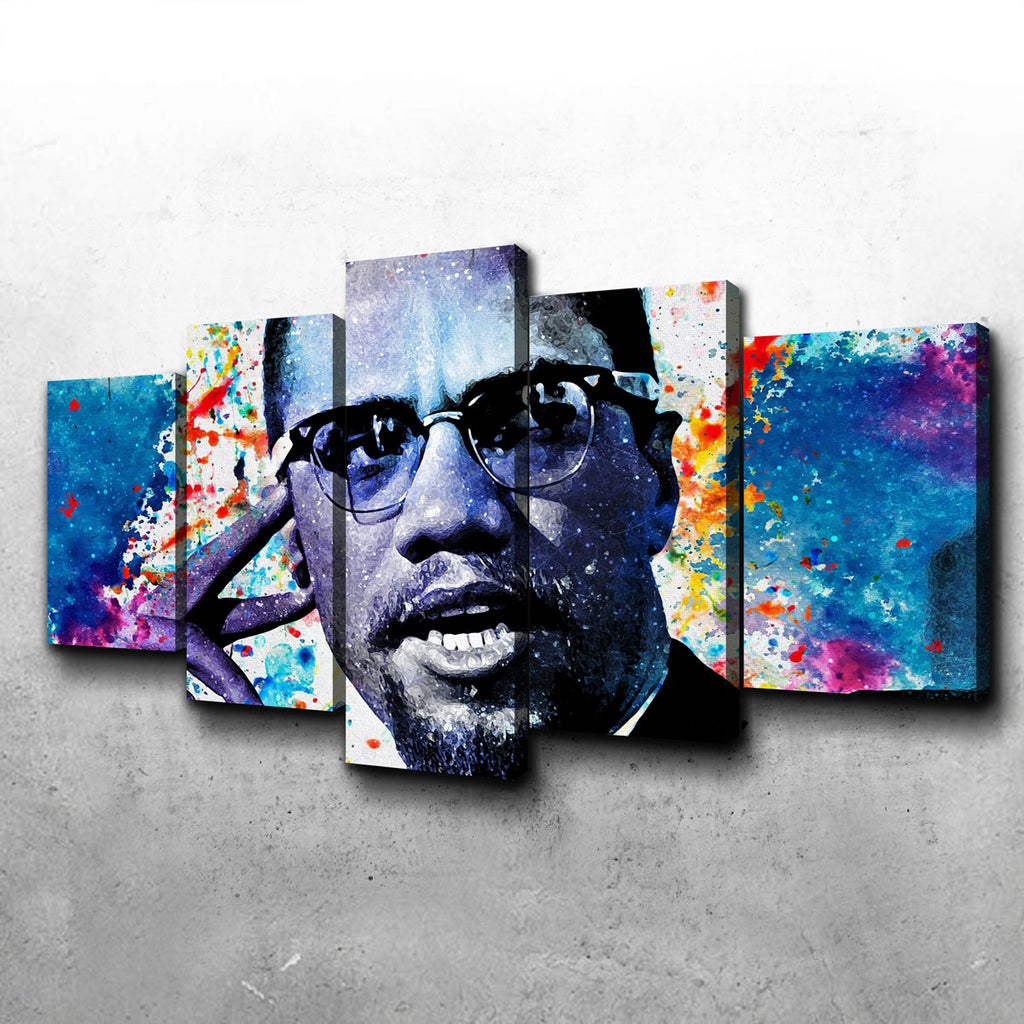 Malcolm X Canvas Set