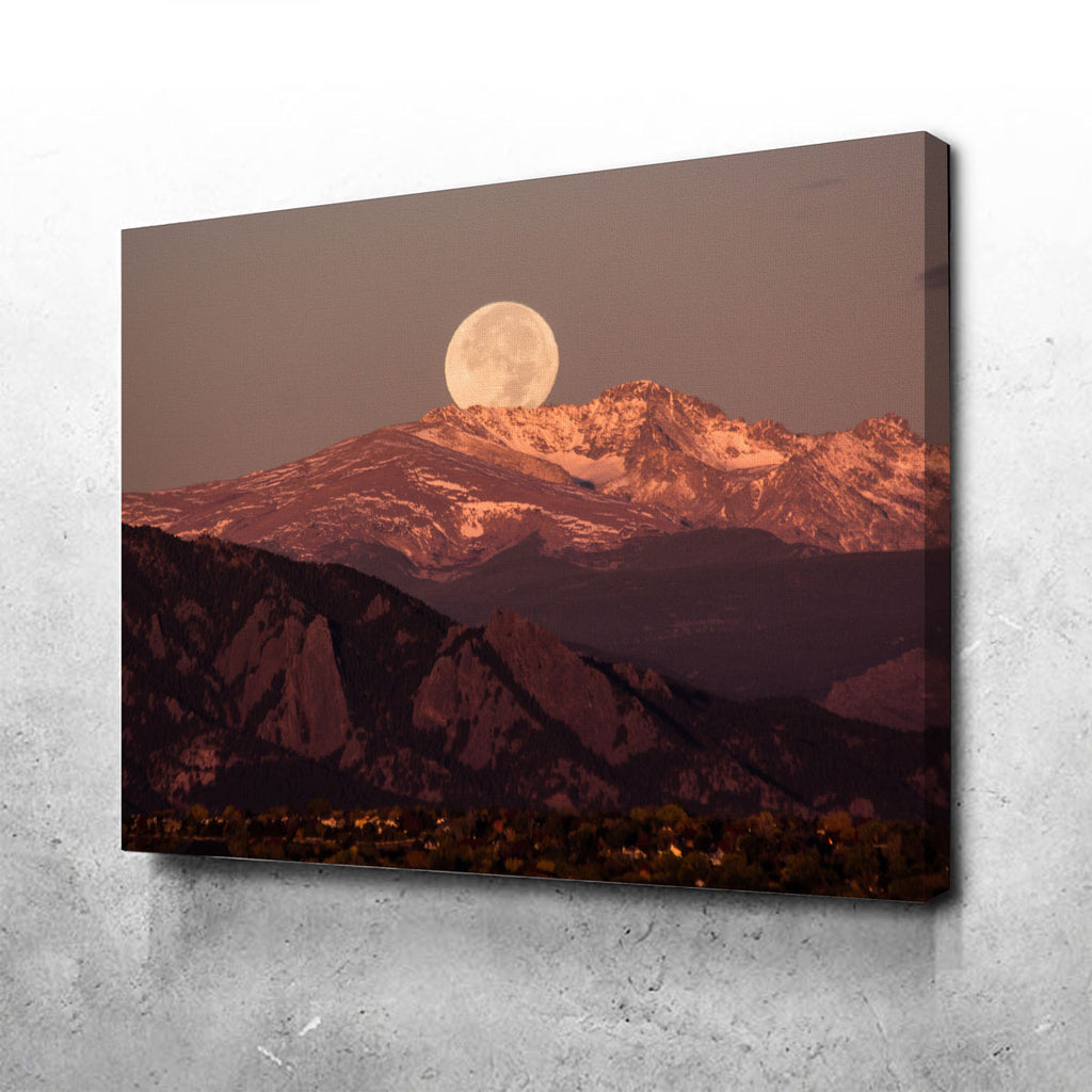 Moon Over Boulder Canvas Set