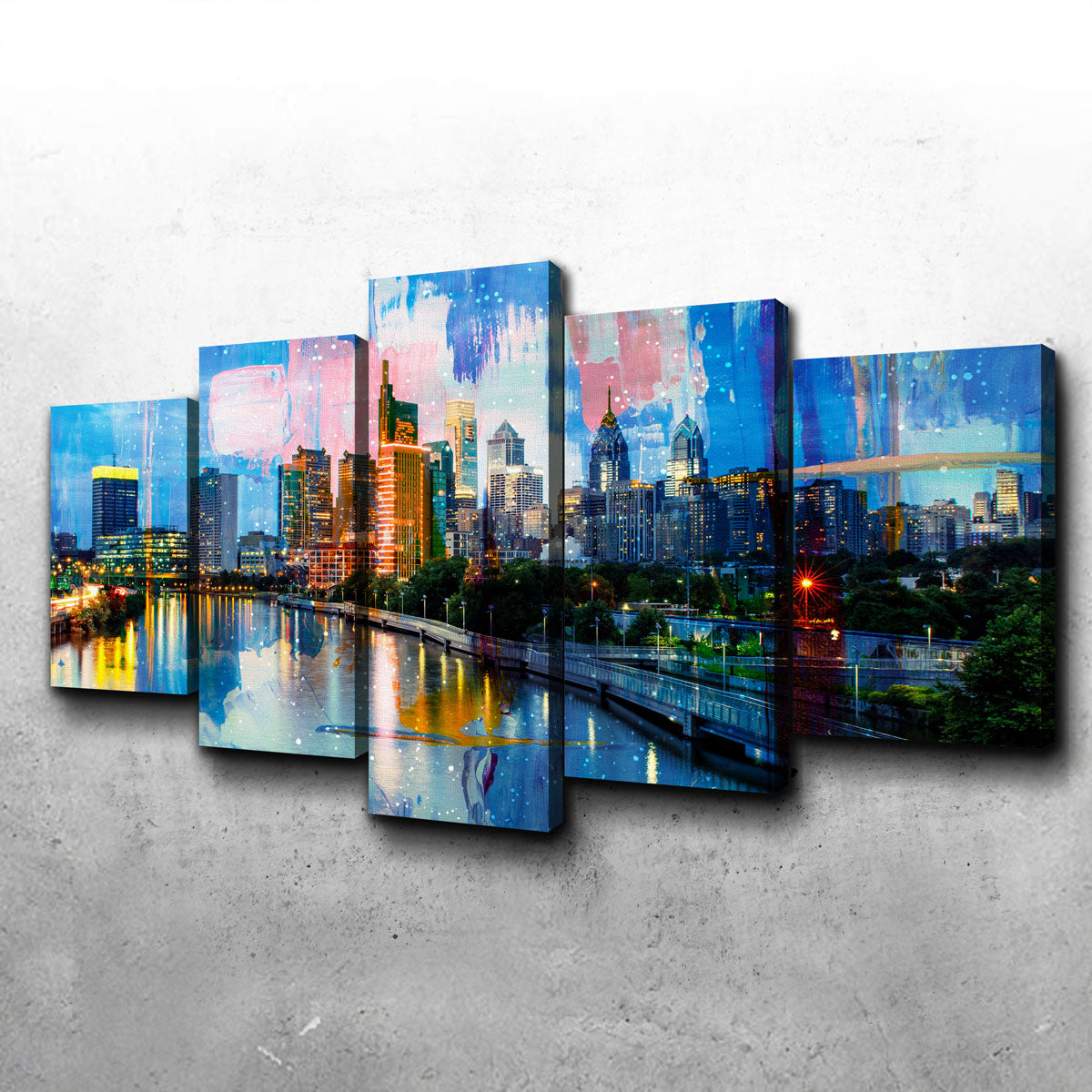 New Philadelphia Skyline Canvas Set