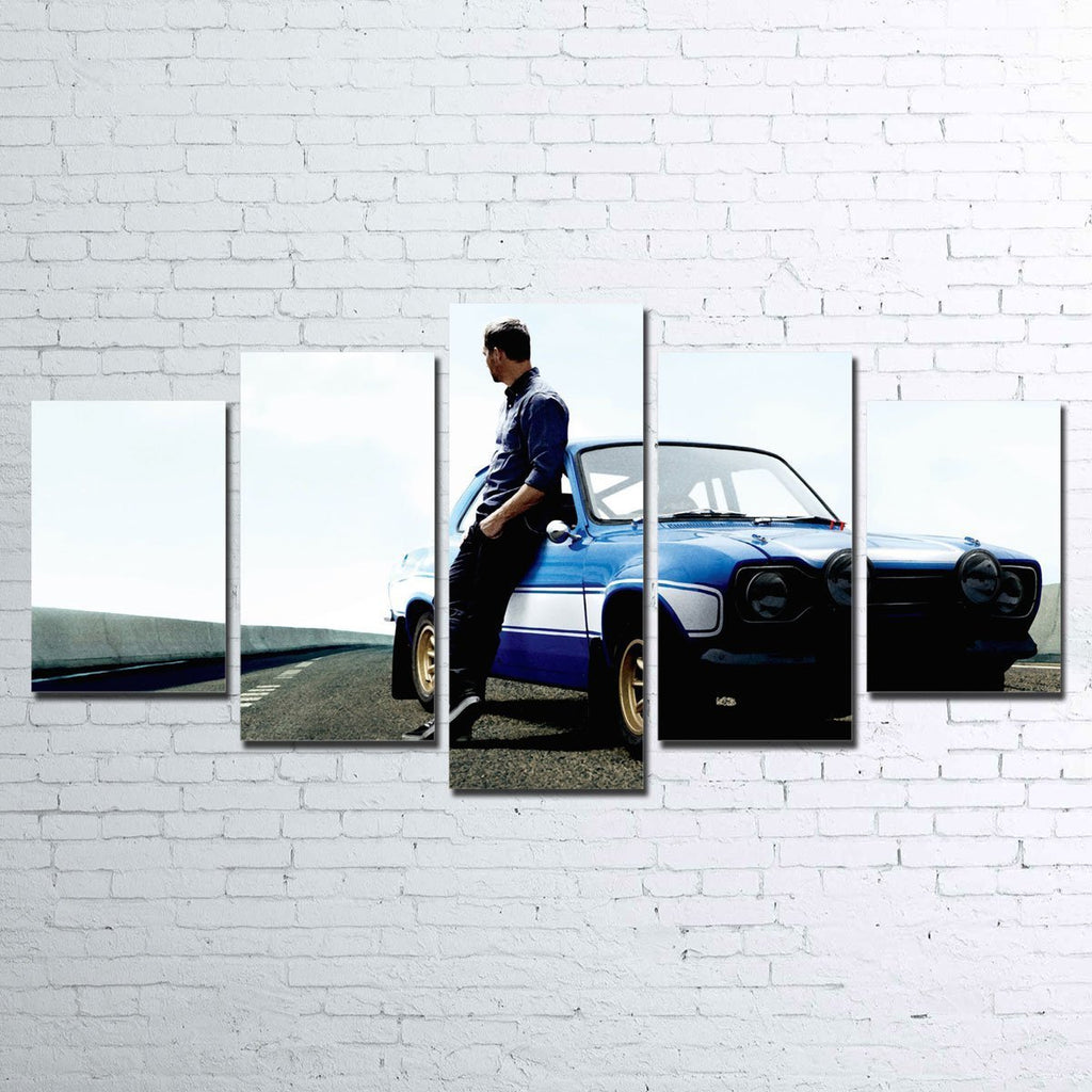 Paul Walker 5 Piece Canvas Set