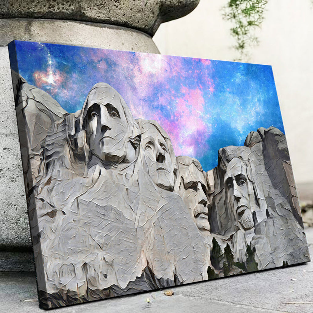 Mount Rushmore Abstract Canvas Set