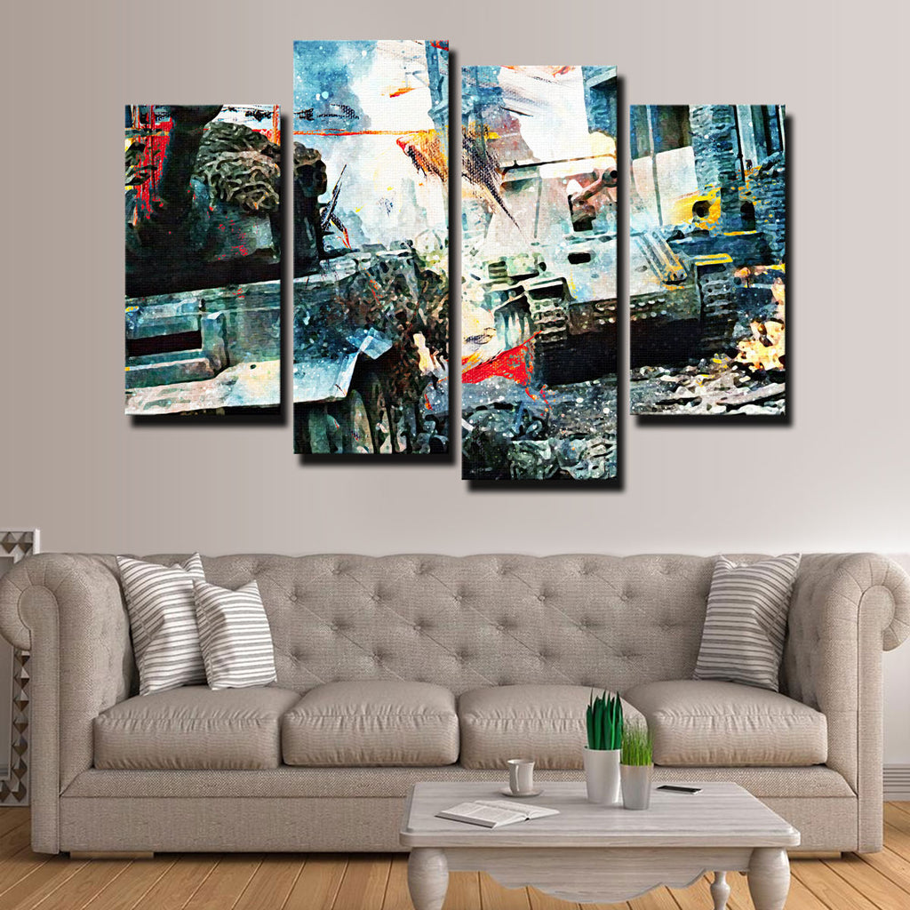 Tank Battle Canvas Set