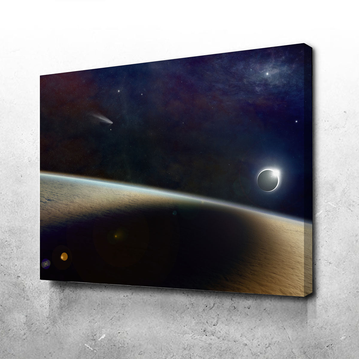 Shadow of the Solar Eclipse Canvas Set