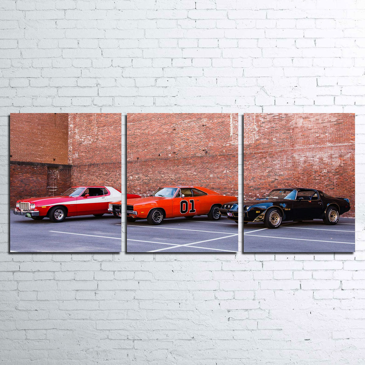 Classic Movie Cars Canvas Set