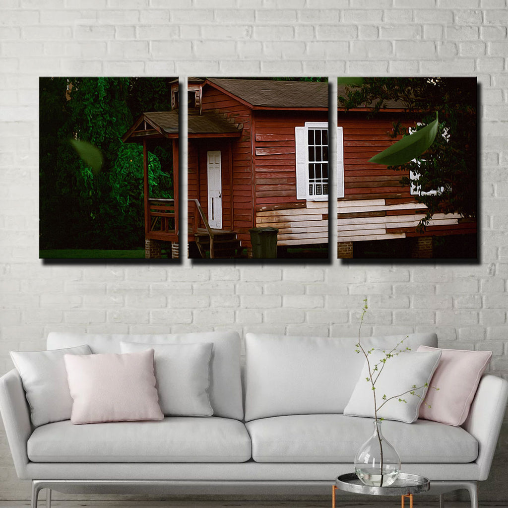 The Red House Canvas Set