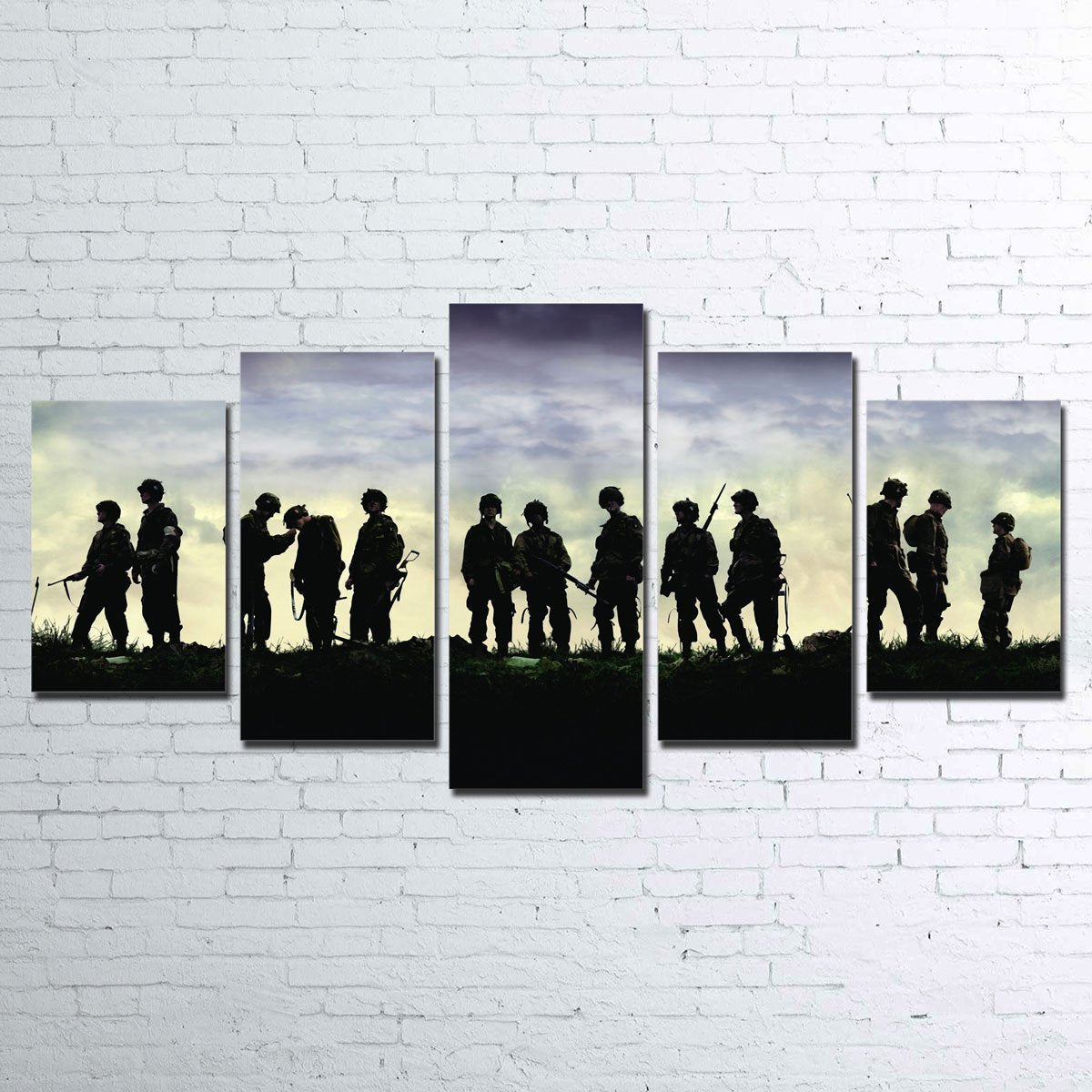 Band of Brothers 5 Piece Canvas Set