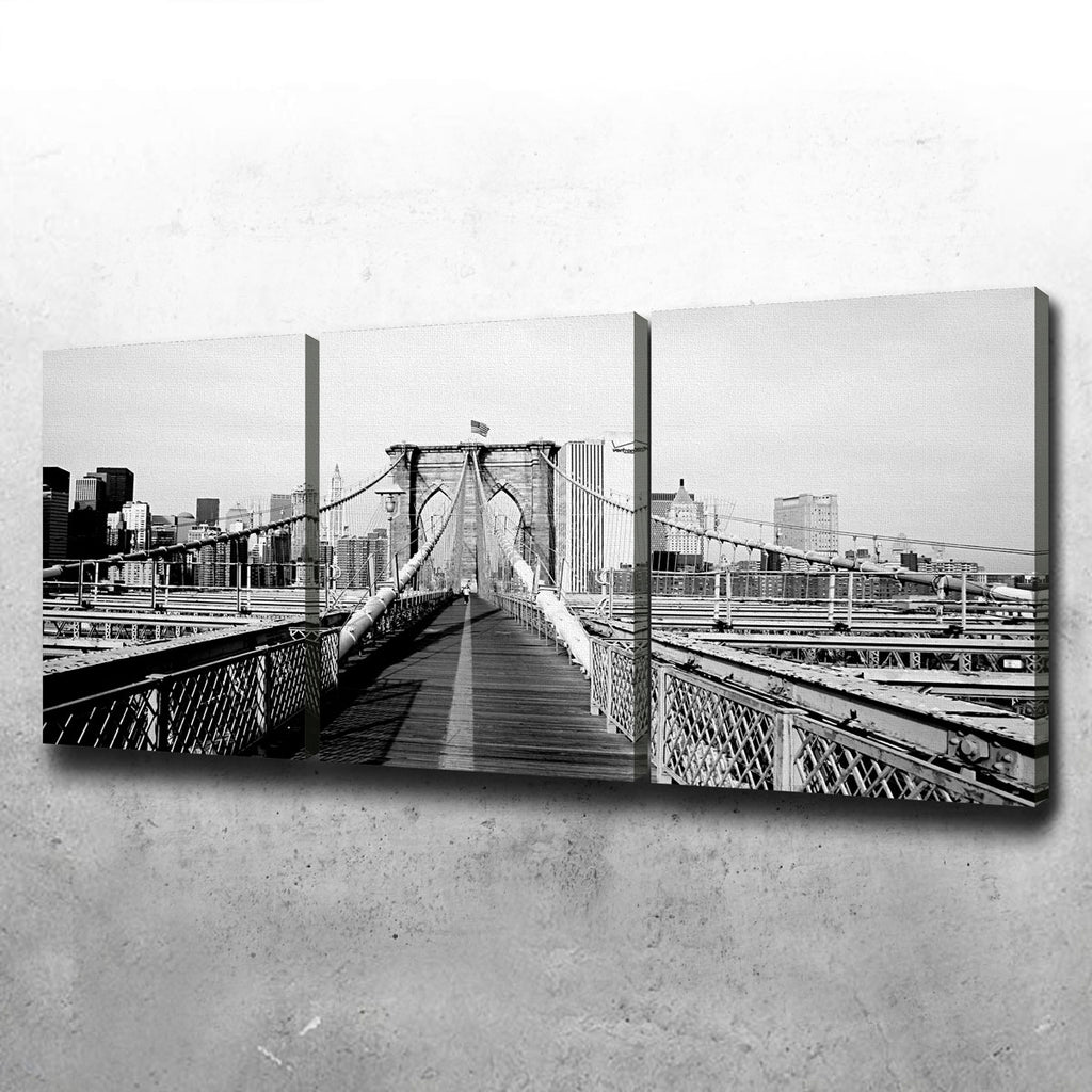 Brooklyn Bridge Flag Canvas Set