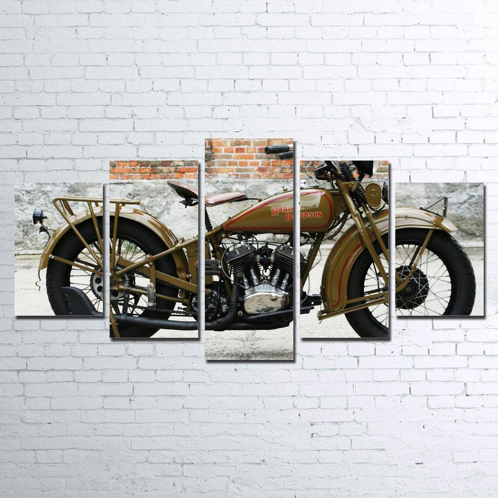 Canvas - 1930's Harley Davidson 5 Piece Canvas Set