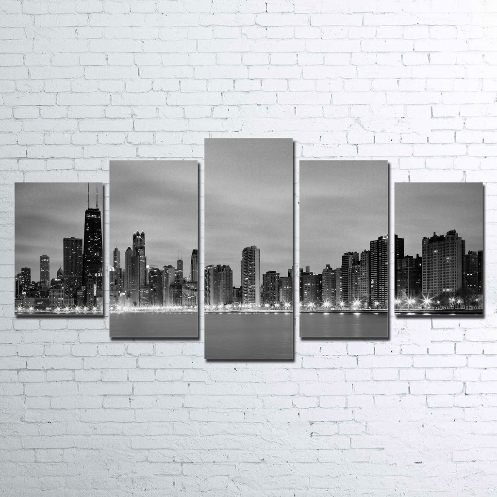 Canvas - Chicago Skyline 5 Piece Canvas Set