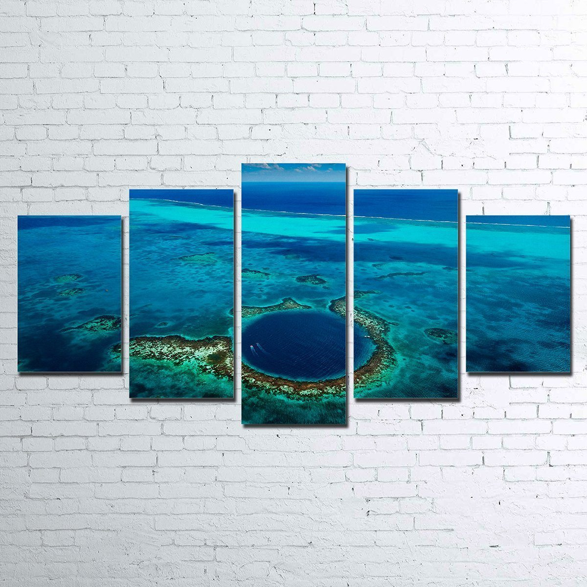 Canvas - Great Blue Hole 5 Piece Canvas Set
