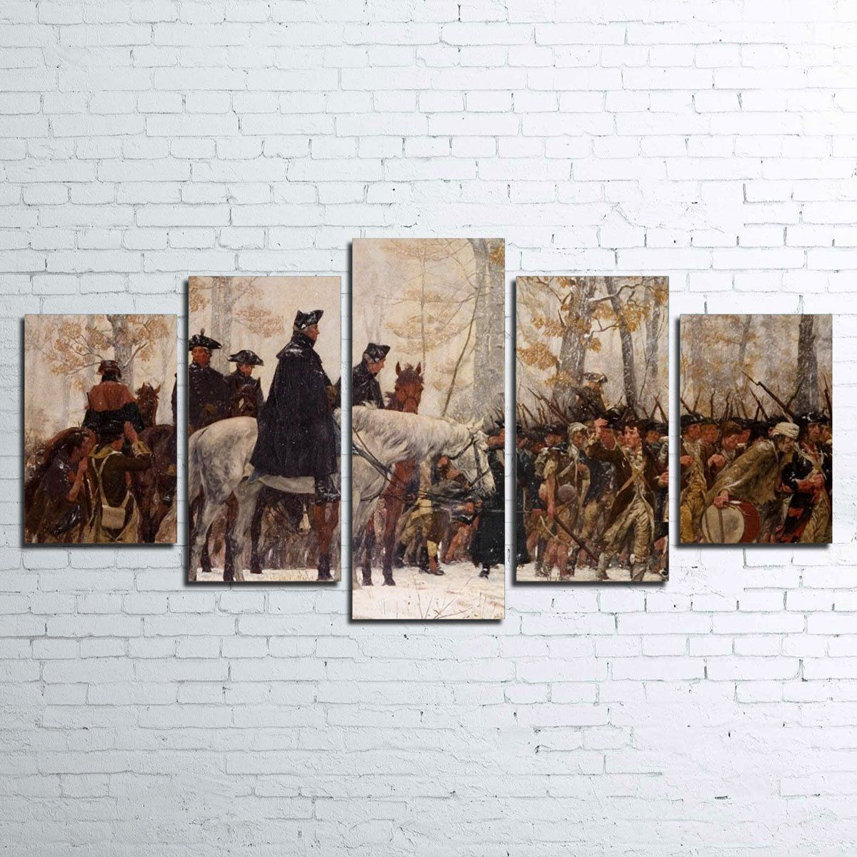 Canvas - GW Revolutionary War 5 Piece Canvas Set