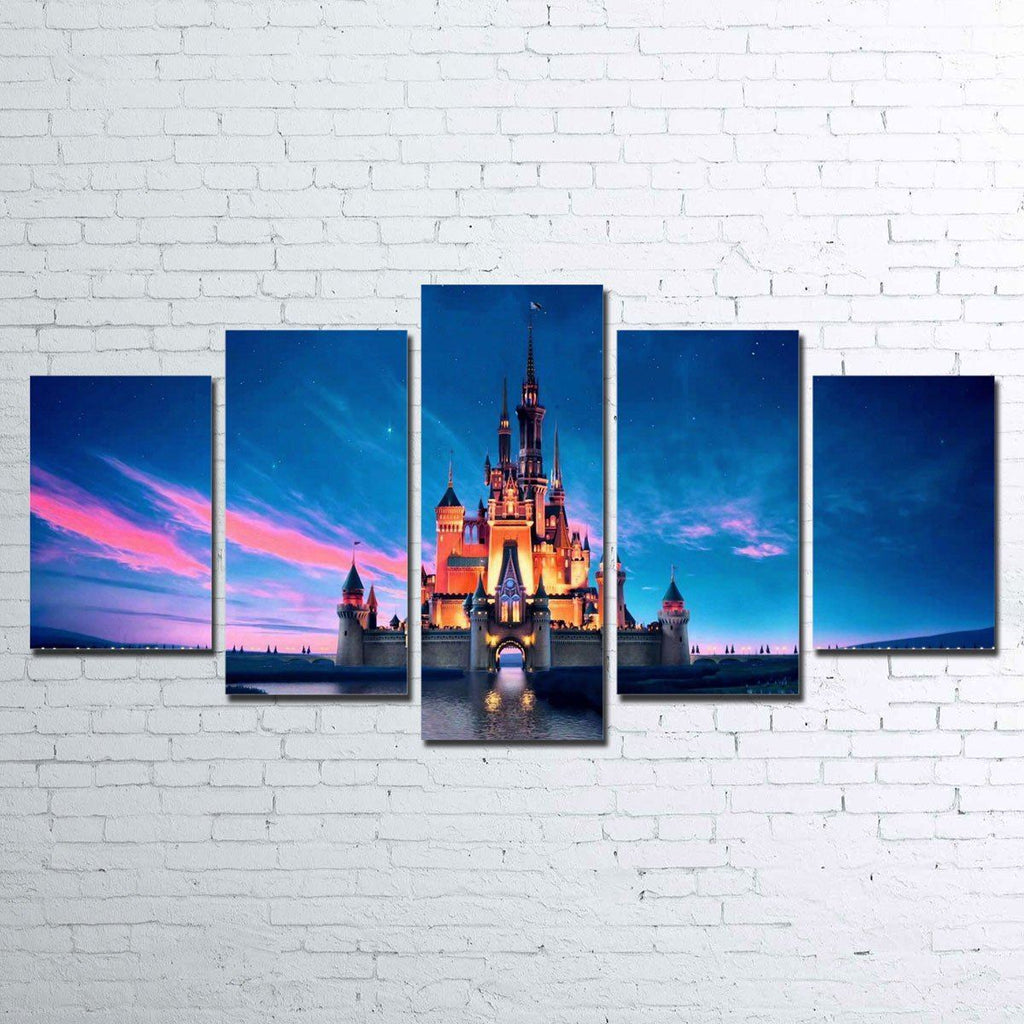 Canvas - Happiest Place On Earth 5 Piece Canvas Set