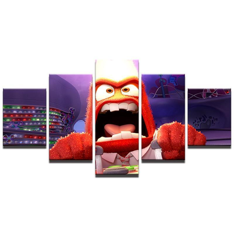 Canvas - Inside Out Anger 5 Piece Canvas