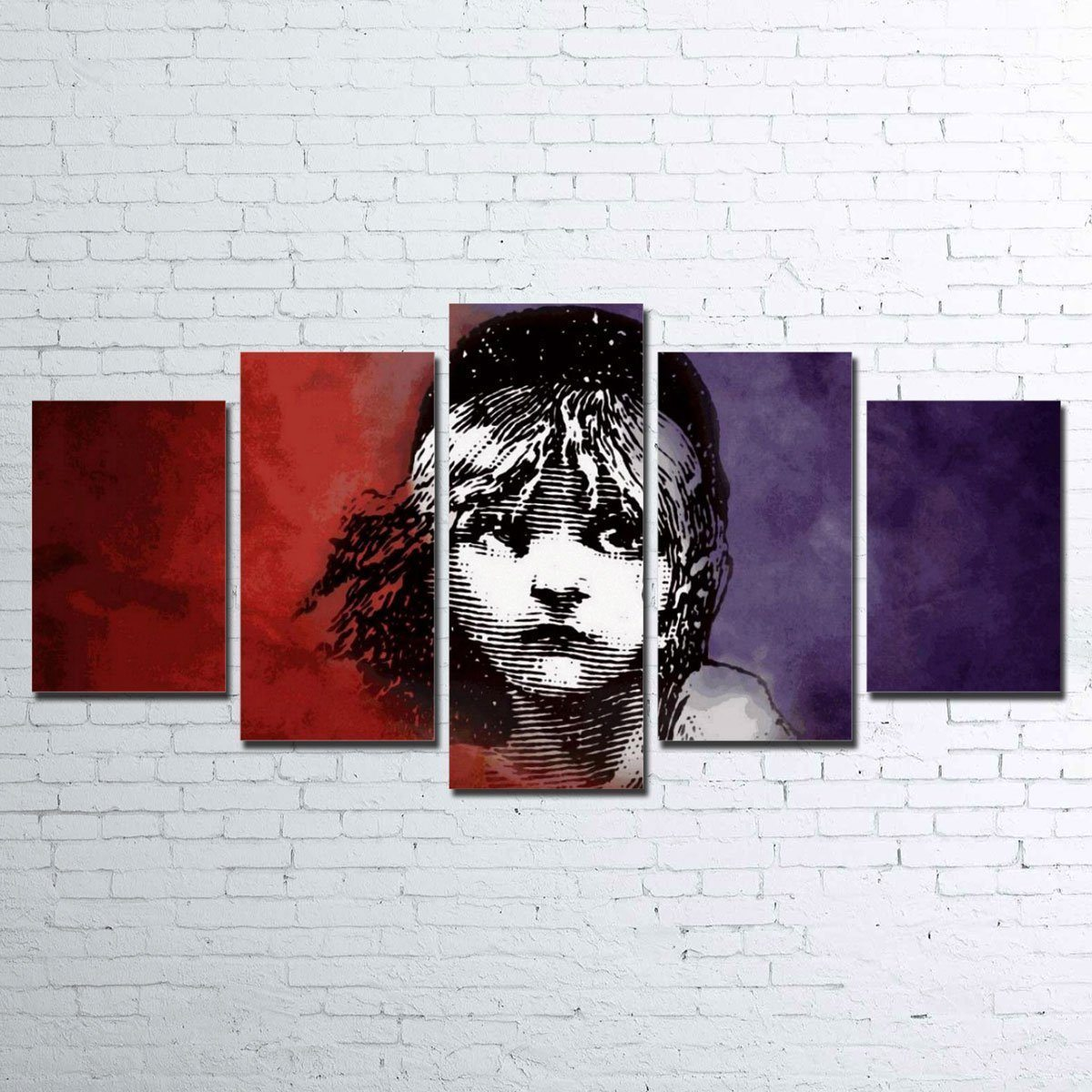 Canvas - Les Mis 5 Piece Canvas Set