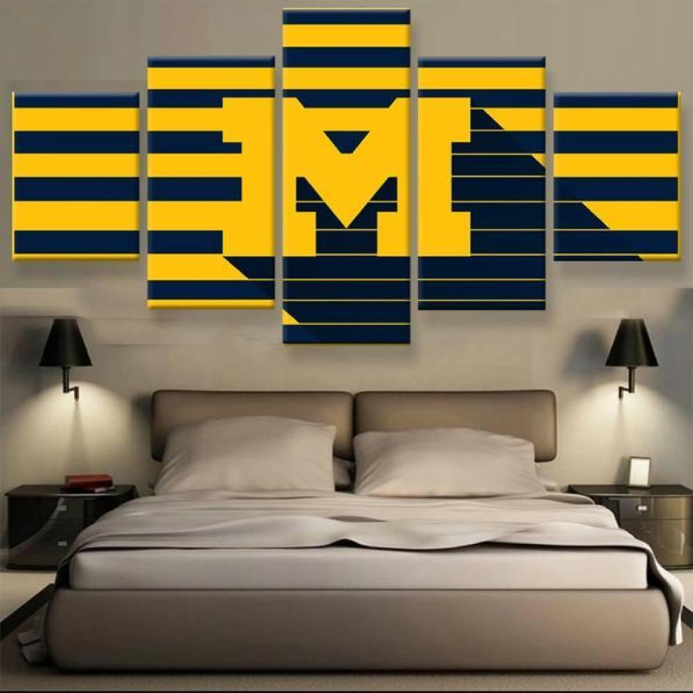 Canvas - Limited Edition Wolverines 5 Piece Canvas