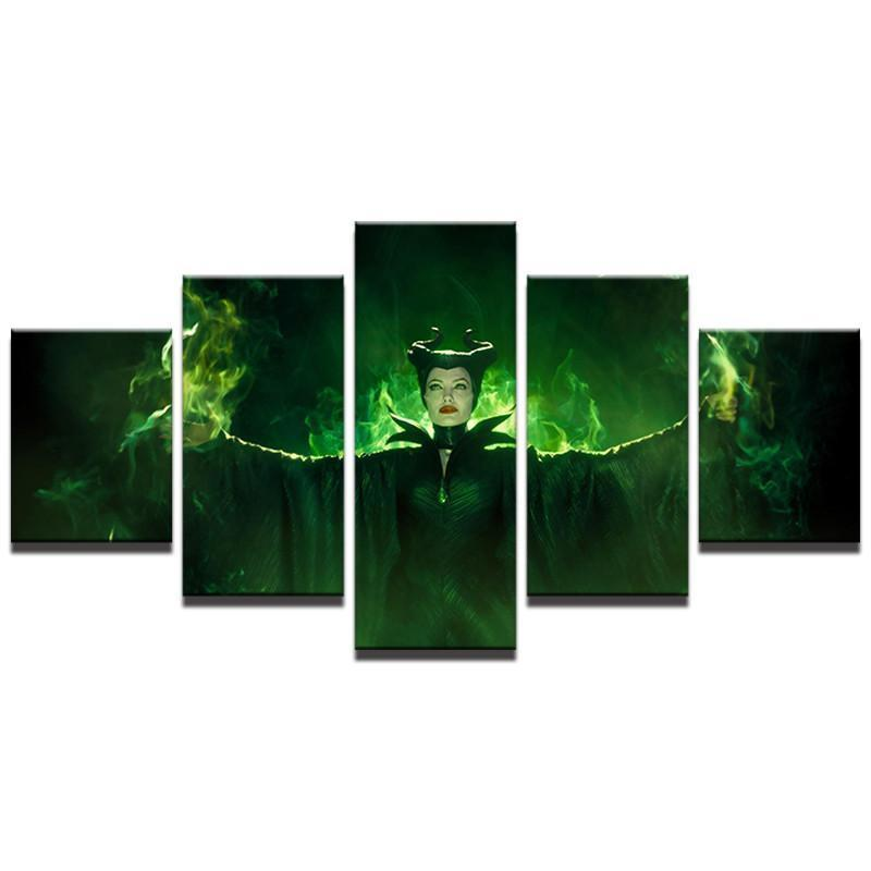 Canvas - Maleficent 5 Piece Canvas