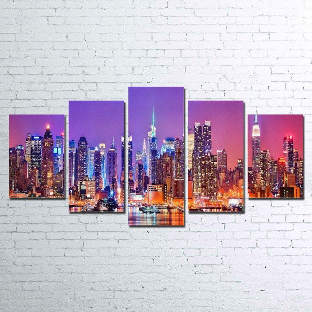Canvas - New York Skyline 5 Piece Canvas Set