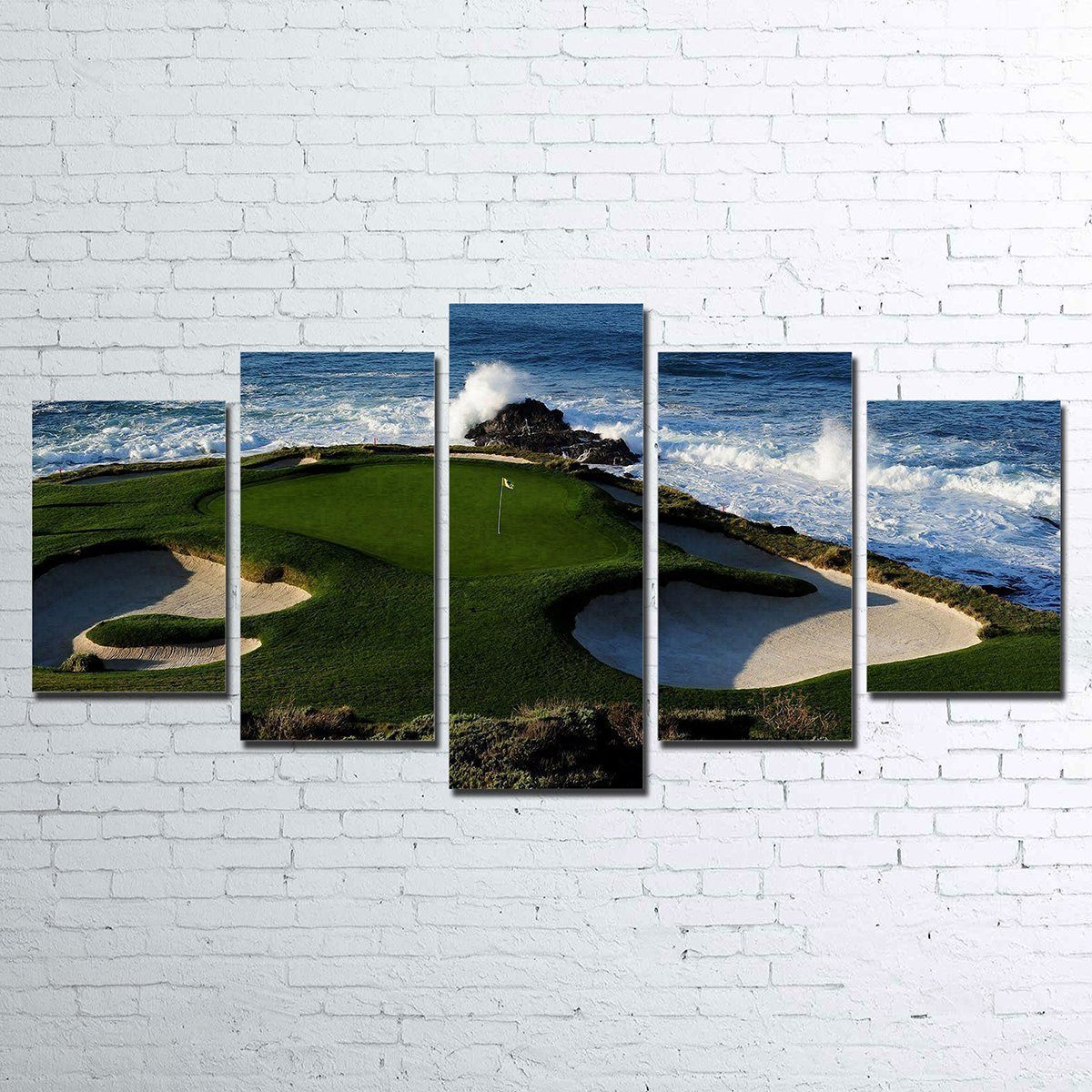 Canvas - Pebble Beach 5 Piece Canvas
