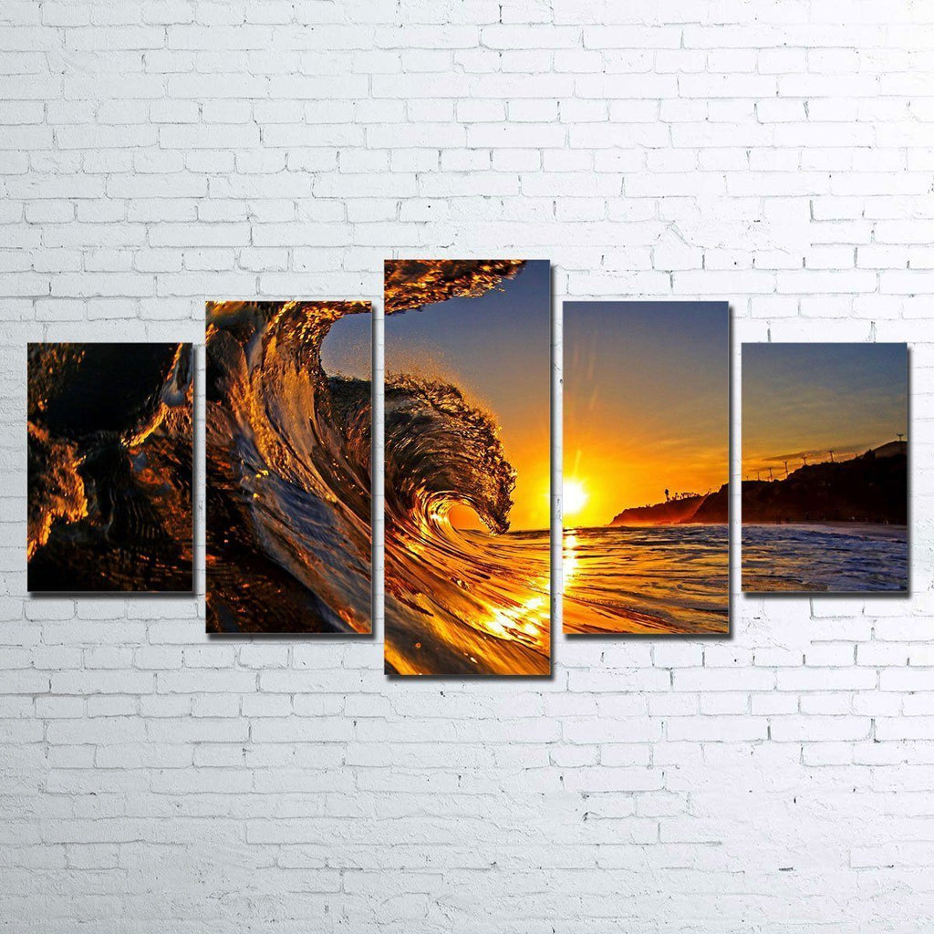 Canvas - Solar Waves 5 Piece Canvas Set