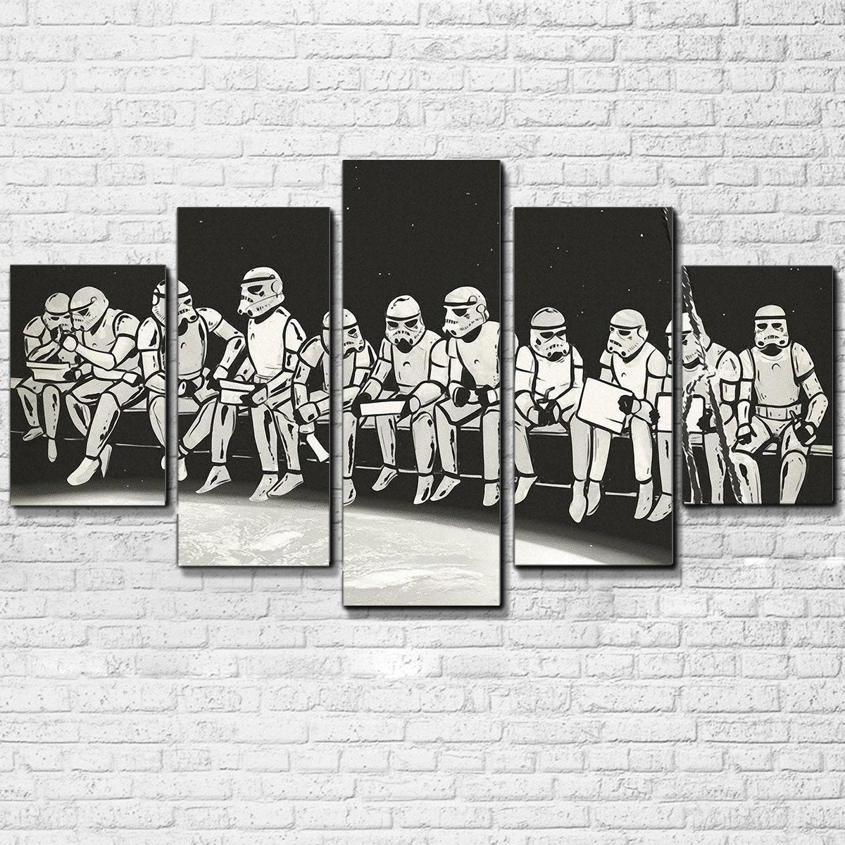 Canvas - Trooper Lunch On A Skyscraper 5 Piece Canvas Set