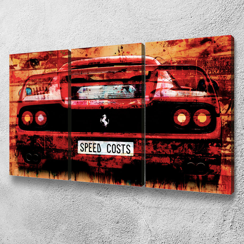 Speed Costs Canvas Set