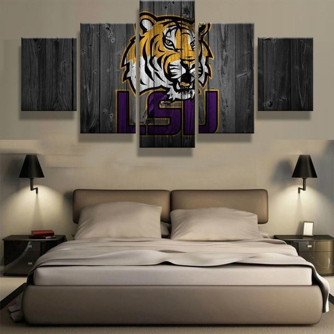 Limited Edition LSU 5 Piece Canvas