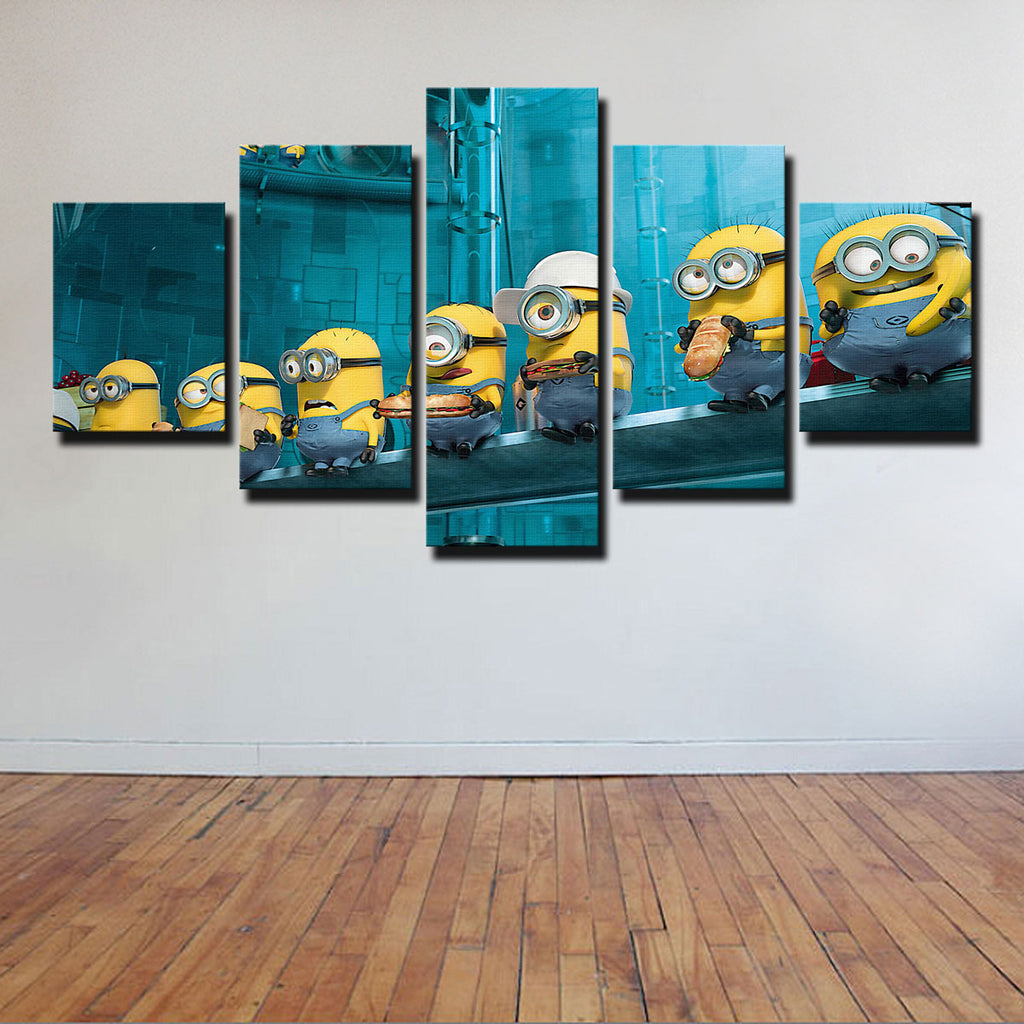 Limited Edition Minions 5 Piece Canvas