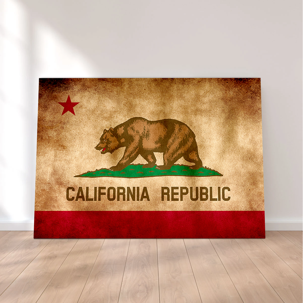 California State Flag Grunge
