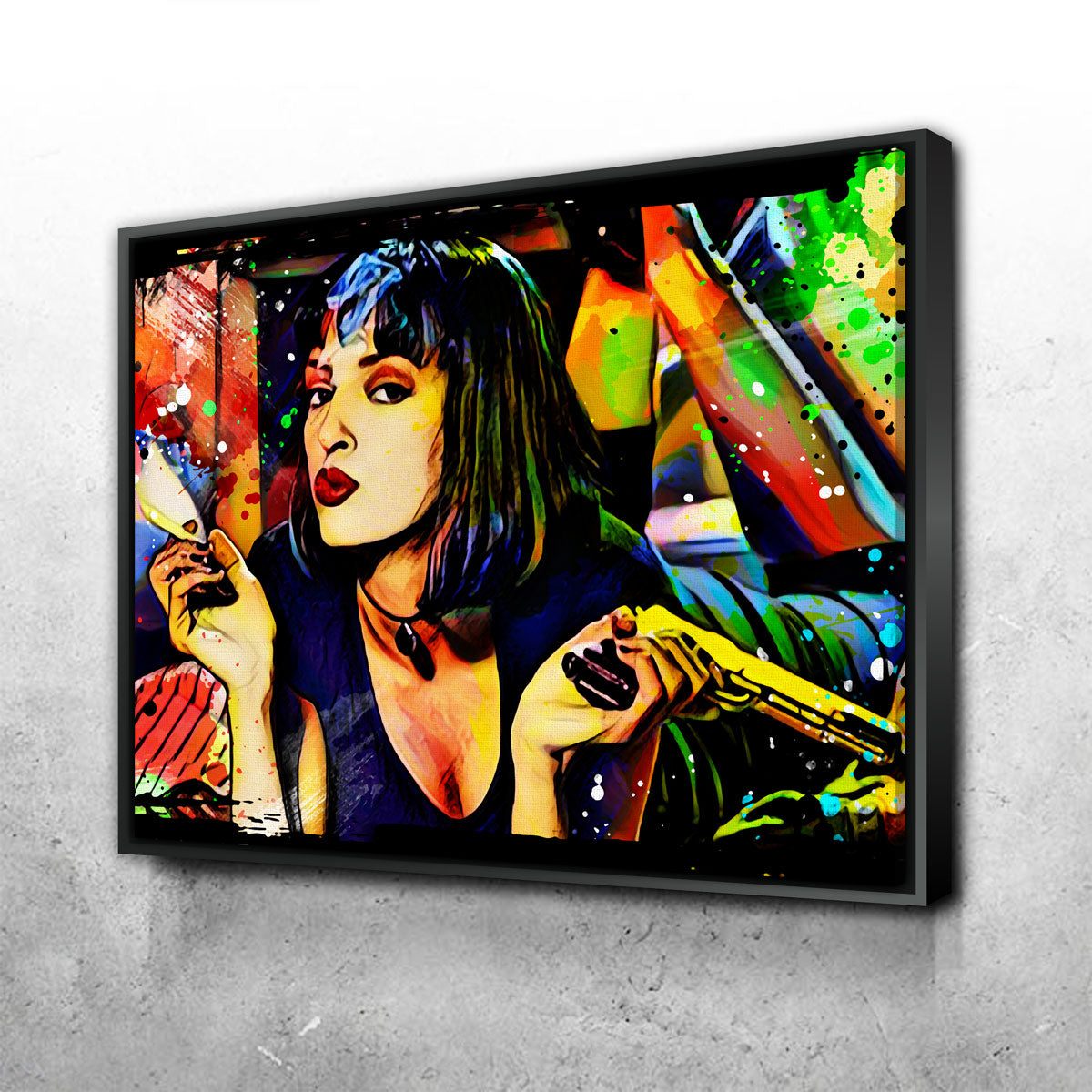 Abstract Pulp Fiction Canvas Set